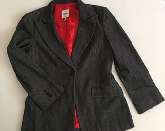 Moschino classical jacket made from real wool quality and soft wool warm jacket stylish jacket vintage style women's jacket has size-medium.