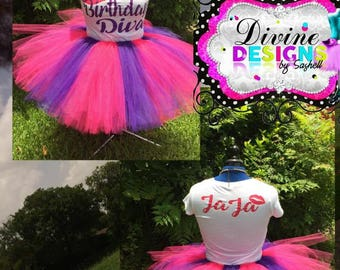 Ladies Tutu Set, Adult Tutu Set, Party Set, Birthday Outfit, Skirt, Tulle Skirt