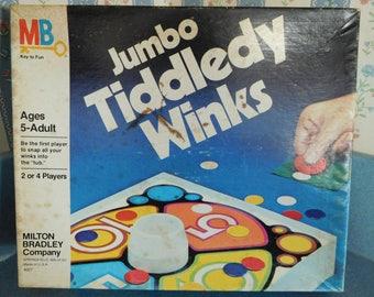 Vintage Junior Tiddledy Winks from 1983 by Milton Bradley