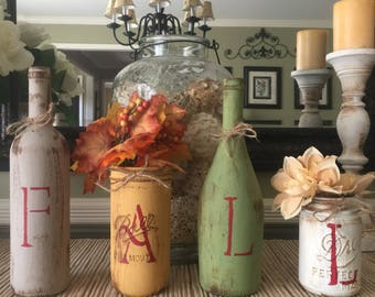 fall home decor rustic fall decor fall wine bottle decor - Fall Home Decor
