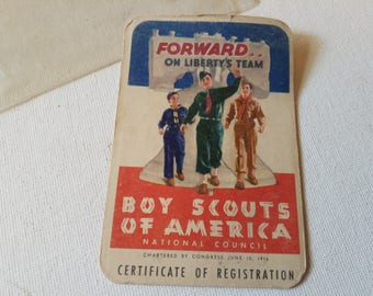 Boy scout i.d. card