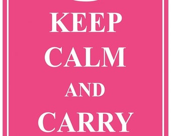 KC05 Keep Calm and Carry On Poster Print