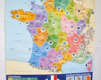Displays the France and its parts