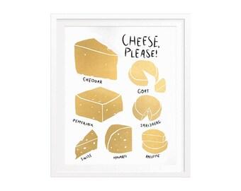 Cheese, Please! Silkscreened Art Print