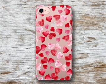 Heart Phone Case iPhone 7 Case Clear İPhone 7 Plus Case iPhone 6 Case Clear iPhone 6S Case  iPhone SE Case Clear iPhone 6S Transparent Case