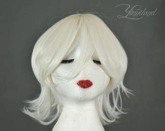 Short White Wig | White Wig | Short Wig | Cosplay Wig | Costume Wig | Kawaii Wig - short wig with high quality synthetic hair