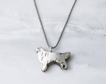 Sterling Silver Golden Retriever Necklace/Pendant