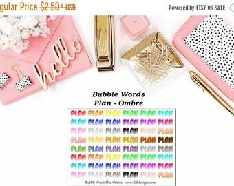 40% Off Sale Bubble Words - Plan Ombre//EC//Hp classic, large mini