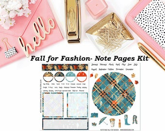 Fall for Fashion - Erin Condren Notes Pages Kit