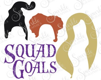 Squad Goals Cut File Cut File Halloween SVG Witch Hocus Pocus Clipart Svg Dxf Eps Png Silhouette Cricut Cut File Commercial Use