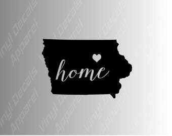 Iowa home state die cut vinyl decal sticker for car, laptop, yeti decal, etc.