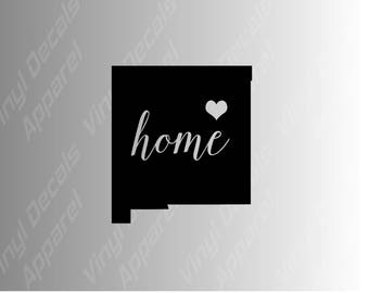 New Mexico home state die cut vinyl decal sticker for car, laptop, yeti decal, etc..
