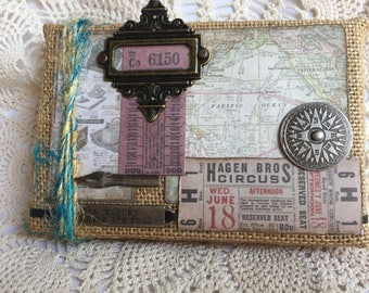 Burlap Wall Hanging or Accent Piece