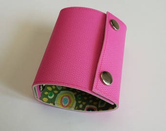 Recycled - Card holder in pink n 25 recycled linoleum