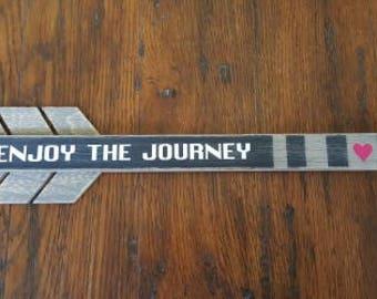 Enjoy the Journey Arrow, wood home decor, great for travel trailer, travel, wall decor, rustic, adventure, wanderlust