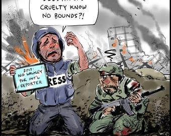 Walkleys/War Correspondents cartoon
