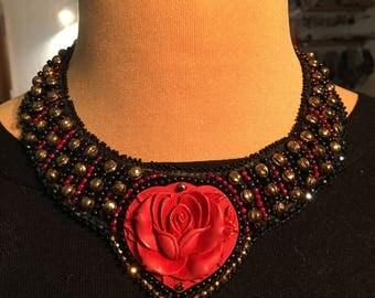 """necklace """"cinnabar rose"""""""