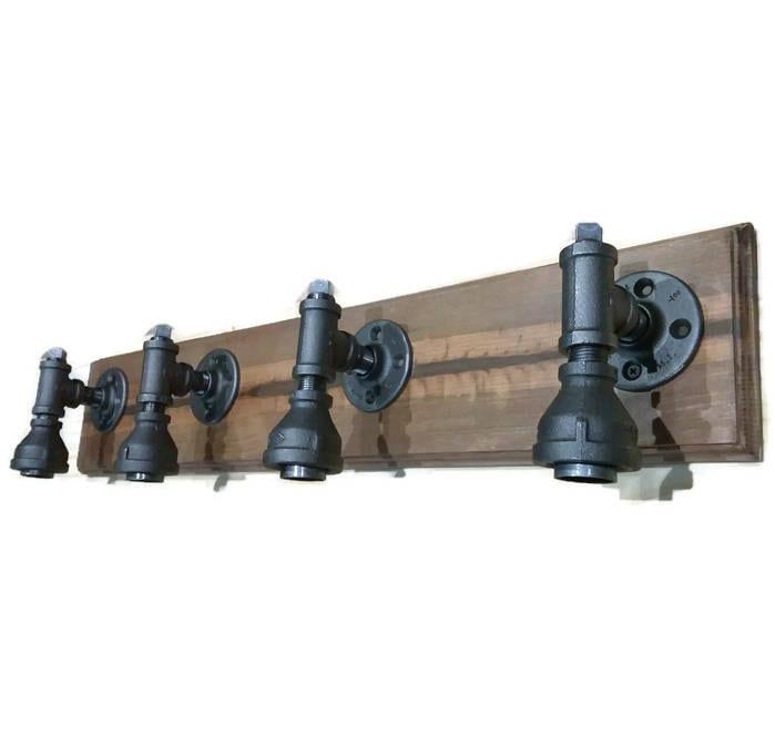 pipe vanity light knotty pine vanity light rustic industrial lighting