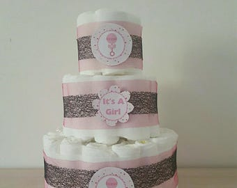 Pretty girl diaper cake
