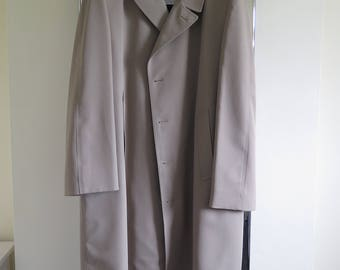London Fog Raincoat with Liner 48L Made in USA Ivy League