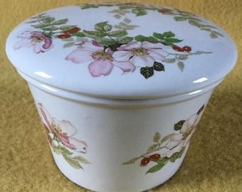 Vintage Portmeirion Briar Rose Pot with lid