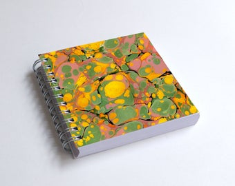 "Notebook 4x4"" decorated with motifs of marbled papers - 23"