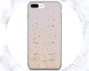 Rose Gold Confetti on Pale Lilac iPhone Case | Polka Dots Phone Case | For Her | Lilac & Rose Gold | iPhone 7 | iPhone 6 Case | iPhone 5S