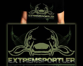 Extreme Athlete Carp 2 | Waller | Carp | Catfish | Fishing T-shirt | S-3XL