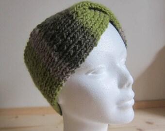 Green and gray cross headband