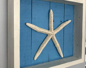 Starfish Shawdowbox, Nautical Decor, Coastal Decor, Beach Decor