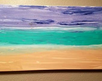 Abstract beach and water