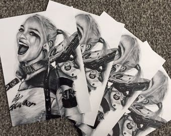 Margot Robbie as Harley Quinn Drawing Print