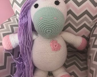 Crochet Unicorn with Curly hair