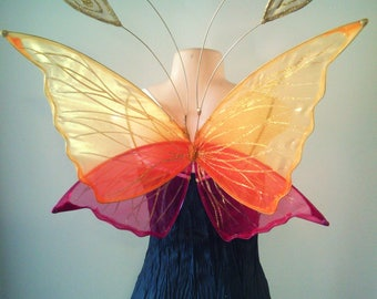 Faerie Wings in Chrysalis Style for Children, Bridesmaids, Flower girls, weddings and fairy parties