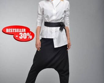 30% OFF Top-Selling Model, White Maxi Tunic, White Cotton Shirt, Deconstructed Shirt, Soft Tunic, Asymmetric Top, Casual Tunic by Astraea-01