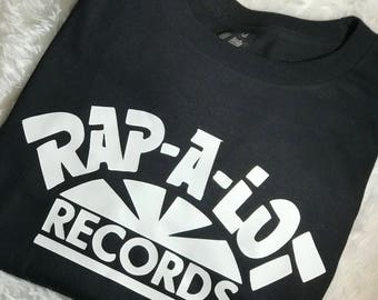 Black and White Adult Unisex Rap-A-Lot Records short sleeve tshirt