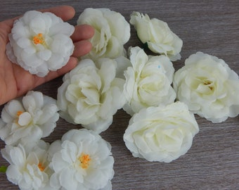 Flower head-Flower heads white color-high quality artificial flower for floral arrangements