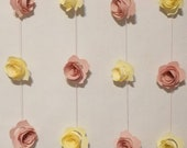 3D ROSES GARLAND-Bridal Shower-Baby Shower- Tea Party-Nursery Decoration-Girls Birthday-Room Decoration and more