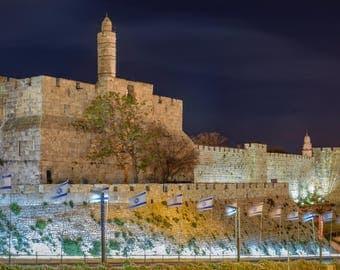 Jerusalem, Tower of David, the wall of Jerusalem, old city of Jerusalem, fine art prints.