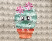 Freja the Cactus Cross Stitch Pattern PDF | Prickly but Cute Stitch-a-Long | Easy | Modern | Beginners Counted Cross Stitch Pattern