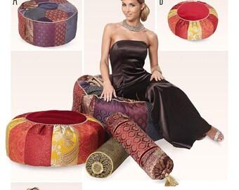 Burda 6881 Home Decor Cushions and Ottoman Sewing Pattern / Uncut FF