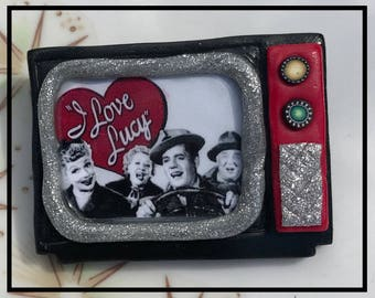 Retro Inspired TV set I Love Lucy Pinup Pin Brooch Rockabilly