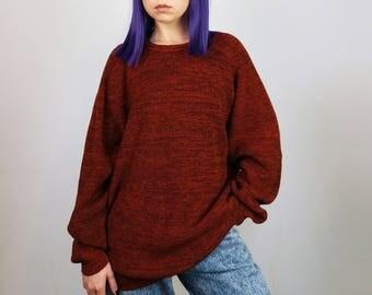 MASELLI Vintage 90's Unisex Oversized Merino Wool Jumper / Sweater | Men's size L-XL