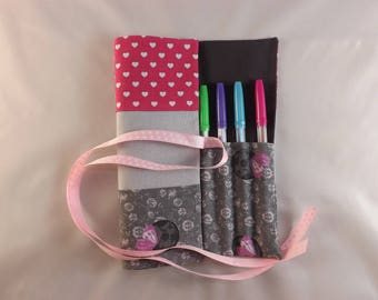Package is customizable rolling markers or color pencils for girl