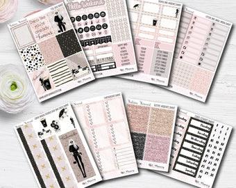 VERTICAL Loose Fashion Forecast Planner Stickers | Erin Condren Life Planner Sticker Kit | Vertical EC Stickers | Happy Planner Stickers |
