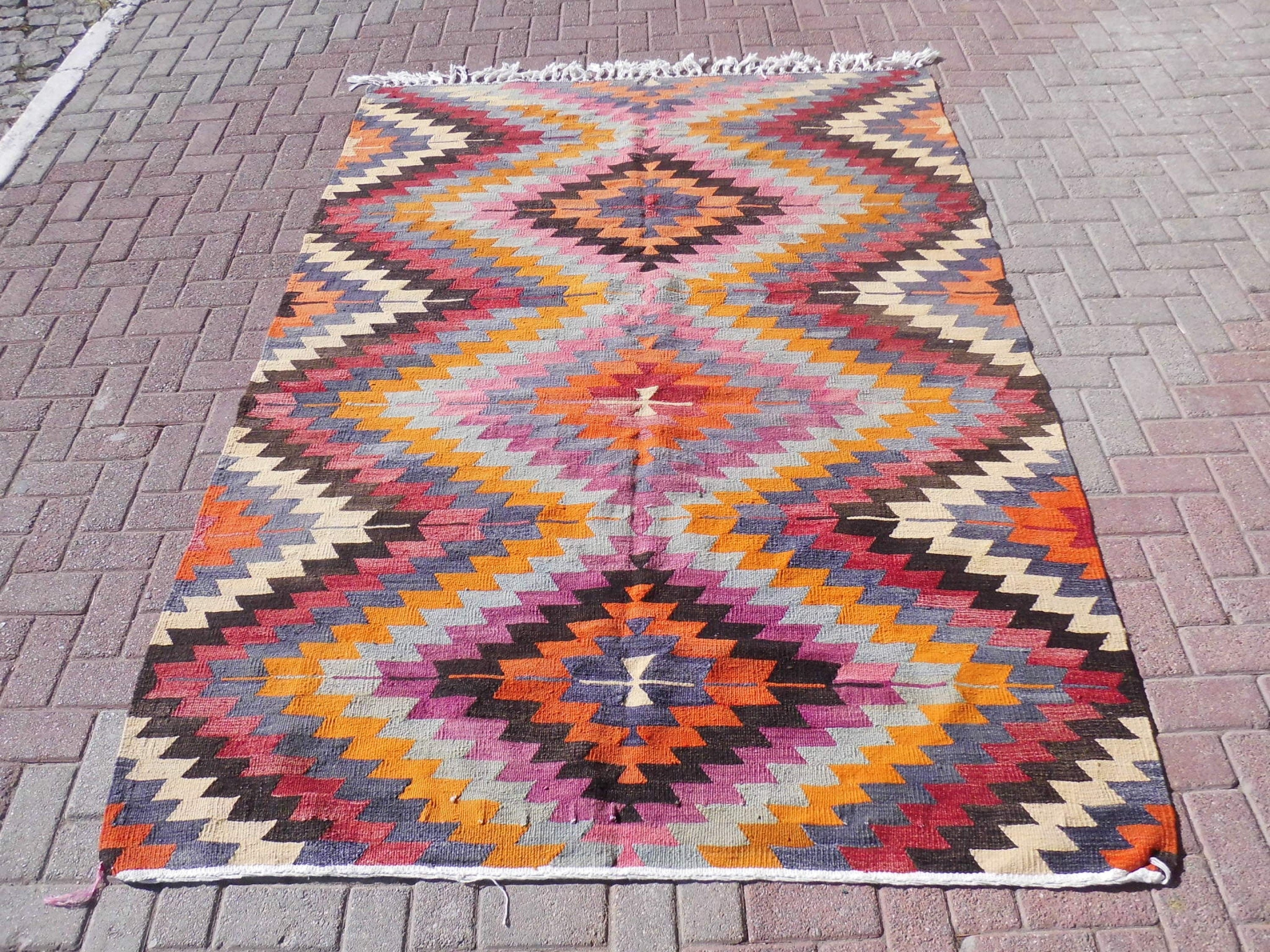 feet old kilim rugs turkish anatolian detail rug product woven cm