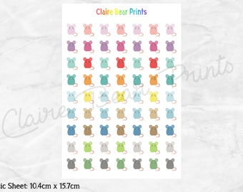 MOUSE/RAT Planner Stickers
