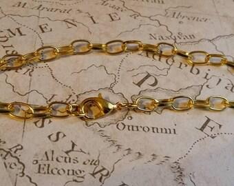 Gold Bracelet, Bracelet Blank, Basic Bracelet, Base Bracelet, Gold Plated Bracelet, Large Gold Bracelet, 20cm Bracelet, Gold 20cm