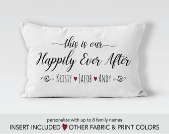 This is our happily ever after Pillow, 12th anniversary gift, second marriage gift, second wedding gift, valentines day gift, wife gift,