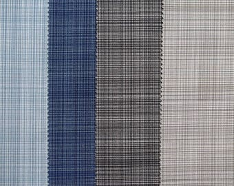 4 coupons blue and beige fine Plaid